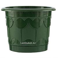 Горшок Тюльпан с поддоном, зеленый, 1,4 литра PALISAD 69236 (002)