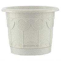 Горшок Тюльпан с поддоном мрамор 3,9 литра PALISAD 69233 (002)