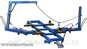 Стапель для правки кузовов, стапель, 1 силовое устройство, гидравлика 10т, стрела для вытяжки крыш ПРОФЕССИОНА