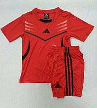 Детская футбольный форма, красная