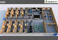 Модульные здания, Общежитие на 96 человек