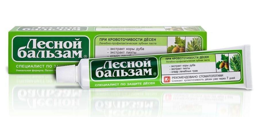 Зубная паста Лесной бальзам При кровоточивости десен с корой дуба/пихты 75мл
