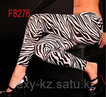 Женские леггинсы - зебра