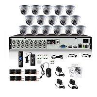 Готовый комплект видеонаблюдения из 16 внутренних камер, фото 1