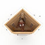 Инфракрасная сауна одноместная угловая с керамическими излучателями. Размеры: 1000х1000х2000 мм , фото 2