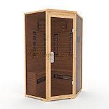Инфракрасная сауна двухместная угловая с керамическими излучателями. Размеры: 1250х1250х2000 мм , фото 2
