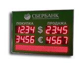 Табло валют с бегущей строкой