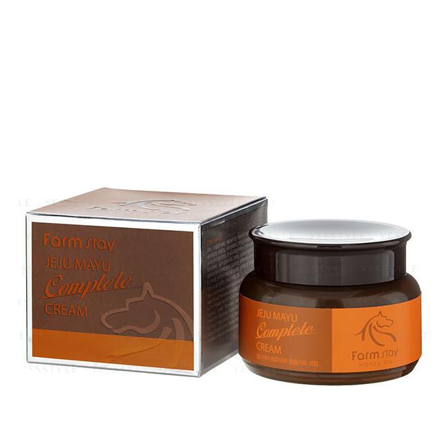Farm Stay Jeju Mayu Complete Cream Комплексный крем для лица на экстракте жира лошади 100 мл
