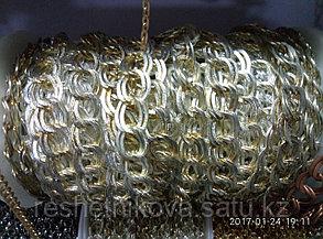 Цепочка металлическая винтажное серебро