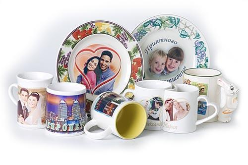 Печать на кружках, тарелках, керамике, от 1 дня, центр города Алматы