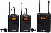 Беспроводной петличный радиомикрофон BOYA BY-WM8  (1 передатчик и 2 приёмника), фото 1