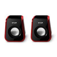 Колонки Delux DLS-Q1UR, Чёрно-Красный