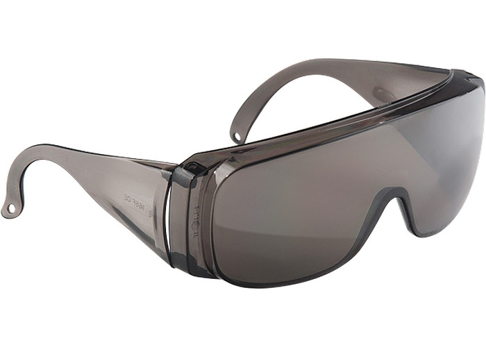 (89156) Очки защитные открытого типа, затемненные, ударопрочный поликарбонат, бок. и верх. защита// СИБРТЕХ