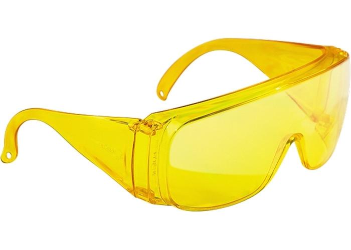(89157) Очки защитные открытого типа, желтые, ударопрочный поликарбонат, бок. и верх. защита// СИБРТЕХ
