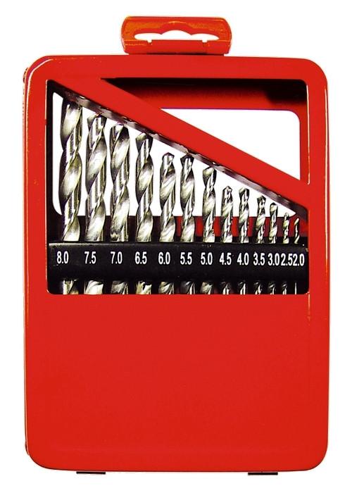 (72388) Набор сверл по металлу, 1-10 мм (через 0,5 мм), HSS, 19 шт., метал. коробка цил. хвостовик//MATRIX