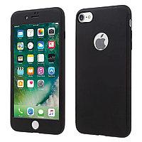 Силиконовый чехол 360 градусов для Iphone 7 (черный), фото 1