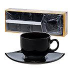Чайный сервиз Luminarc Quadrato черный 12 пр. E8848, фото 2