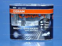 Автолампа 12V H1 55W+110% NIGHT BREAKER UNLIMITED (к-т) Osram, к-т 64150NBU2 EUR