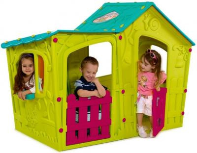 KETER Игровой Дом ВОЛШЕБНАЯ ВИЛЛА Зелено-бирюзовый (169x110x126h)