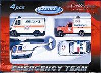 """Набор машин """"Служба спасения-скорая помощь"""""""