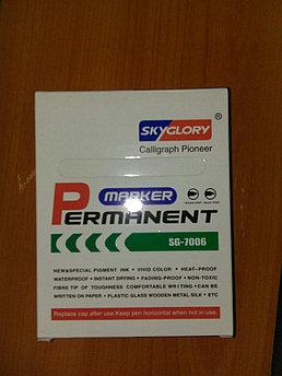 Маркер перманентный WEIBO 2 мм круглый наконечник цвета(черный,синий,зеленый,красный)