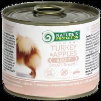 Влажный корм для собак мелких пород Nature's Protection Small Breeds Turkey & Apples индюк с яблоками