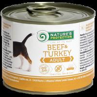 Влажный корм для собак Nature's Protection Adult Beef & Turkey говядина с индюком