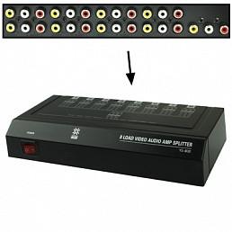 Аудио-видео разветвитель(сплиттер) 1х8  VSP 8(II)