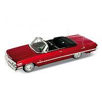 Игрушка модель винтажной машины 1:24 Chevrolet Impala 1963, фото 1