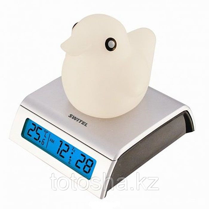 Светящийся термометр-часы с будильником для детской