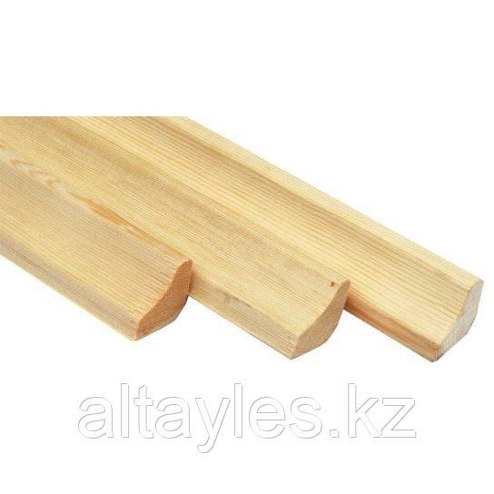 "Плинтус деревянный ""Вогнутый"" 22х45х3000 мм; сосна, сорт А (1)"