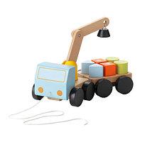 Игра подъёмный кран с кубиками МУЛА разноцветный ИКЕА, IKEA