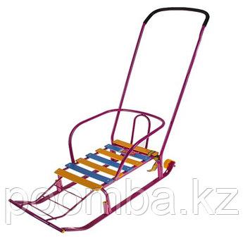 Санки детские Тимка 5 Комфорт с колесом, цвет:фиолетовый