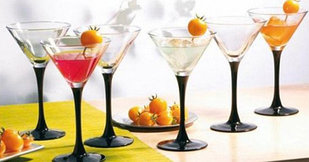 Набор бокалов для мартини Pasabahce Imperial Black 4 шт 225 мл (44919)