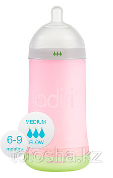 Бутылочка Adiri 6-9 мес средний поток NxGen Medium Flow Pink (6-9 мес., 281 ml)