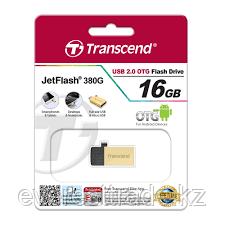 USB Флеш 16GB 2.0 Transcend OTG TS16GJF380G золото