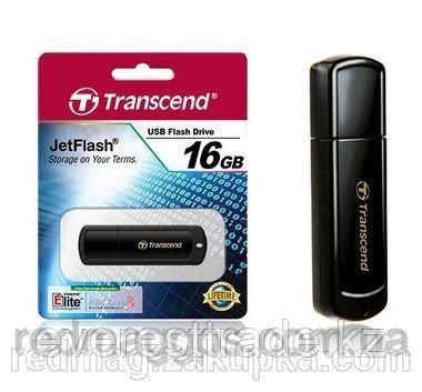 USB Флеш 16GB 2.0 Transcend TS16GJF350 черный