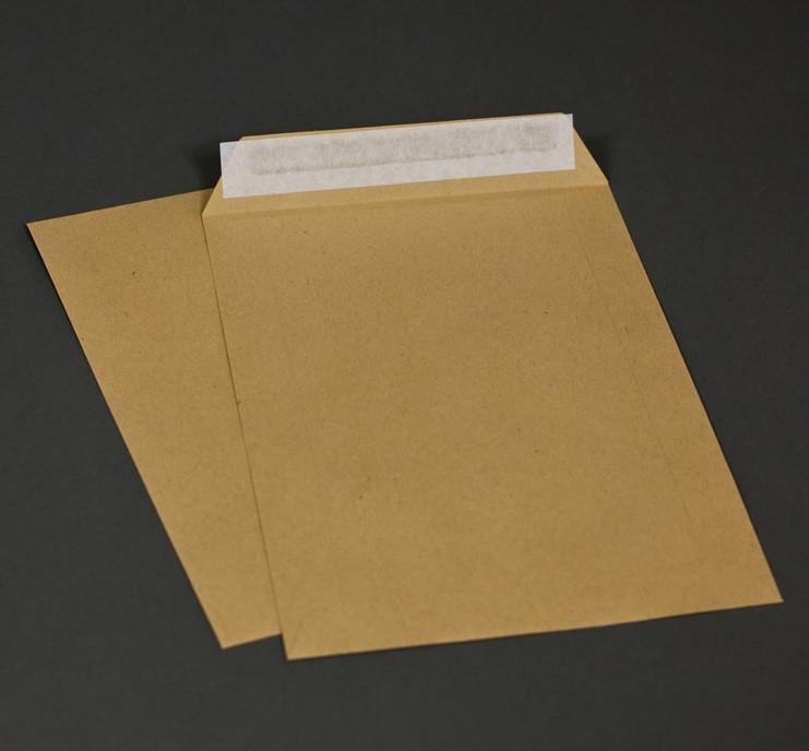 Конверт крафт А4, 229*324 коричневый, 90г, отрывная лента, клапан по короткой стороне 250 шт/уп.