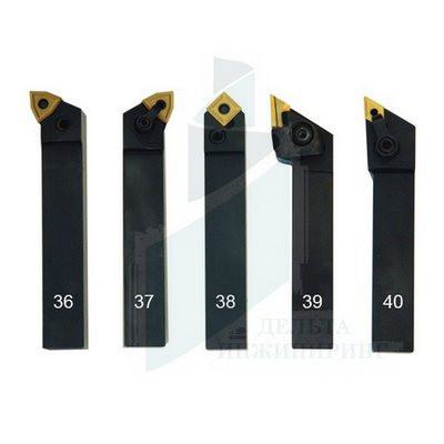 Набор токарных резцов со сменными пластинами 5 шт. 20 мм (36-40)