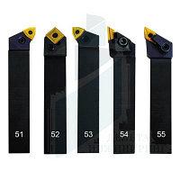 Набор токарных резцов со сменными пластинами 5 шт 25 мм (51-55)