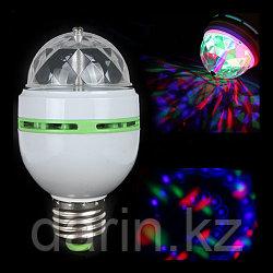 Диско-лампа светодиодная Color rotating lamp