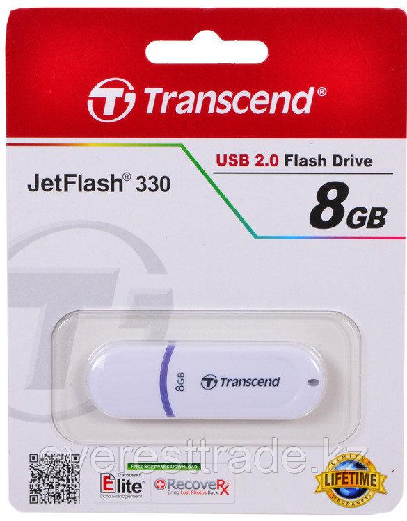 USB Флеш 8GB 2.0 Transcend TS8GJF330 белый