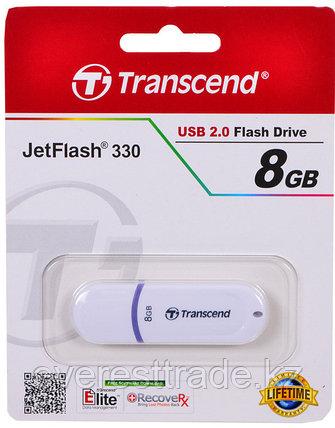 USB Флеш 8GB 2.0 Transcend TS8GJF330 белый, фото 2