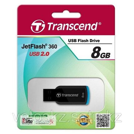 USB Флеш 8GB 2.0 Transcend TS8GJF360 черный-синий, фото 2