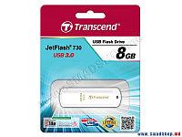 USB Флеш 8GB 3.0 Transcend TS8GJF730 белый