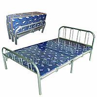 Кровать металлическая складная двуспальная, Китай