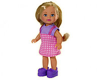 Кукла Еви в клетчатом сарафане, 12 см