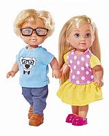 "Набор из 2 кукол Evi Love ""School Friends"" - Еви и Тимм, 12 см"