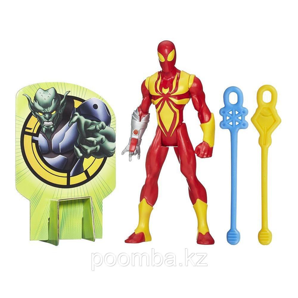 """Боевая фигурка """"Железный Человек-Паук"""" с паутинными снарядами, 14 см"""