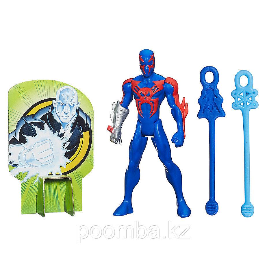 """Боевая фигурка """"Человек-Паук 2099"""" с паутинными снарядами, 14 см"""